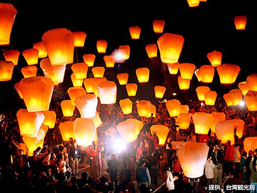 台湾 平渓天燈祭