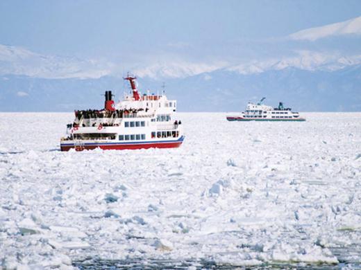 流氷と層雲峡氷瀑まつり