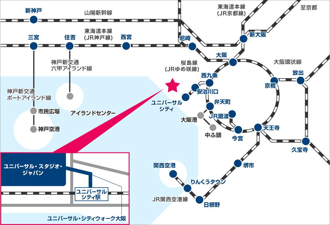 USJホテルマップ
